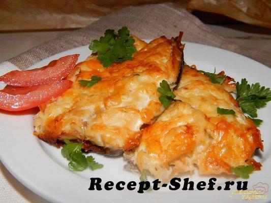 Скумбрия под сыром в духовке