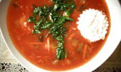 Суп Рассольник домашний с рисом