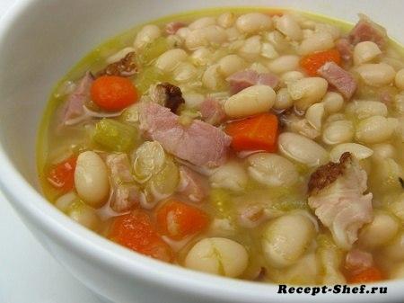 Фасолевый суп: рецепт с белой фасолью