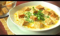 Сырный суп с курицей по домашнему